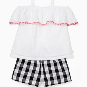 Kate Spade New York Toddlers Gingham Short Set - 3